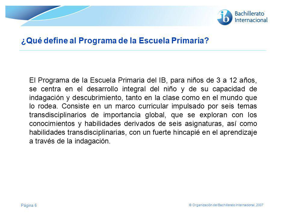 ¿Qué define al Programa de la Escuela Primaria