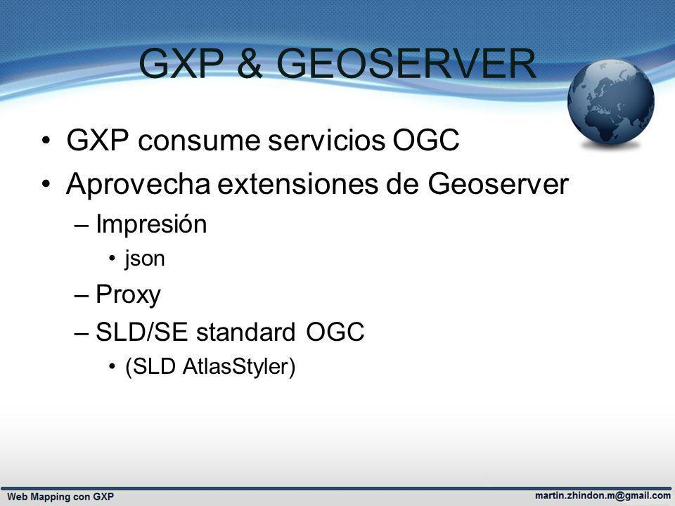 GXP & GEOSERVER GXP consume servicios OGC