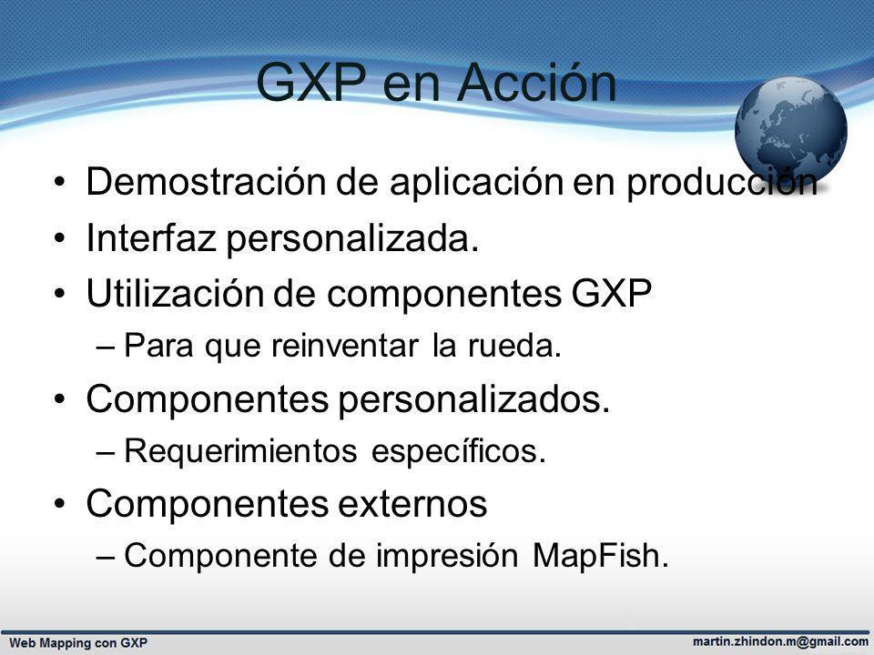 GXP en Acción Demostración de aplicación en producción