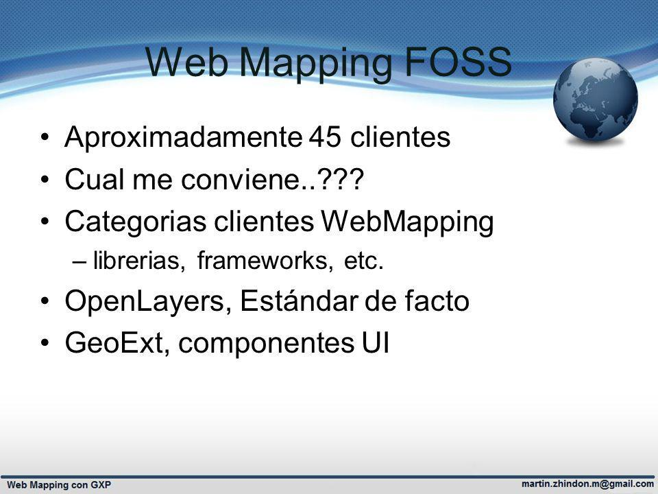 Web Mapping FOSS Aproximadamente 45 clientes Cual me conviene..