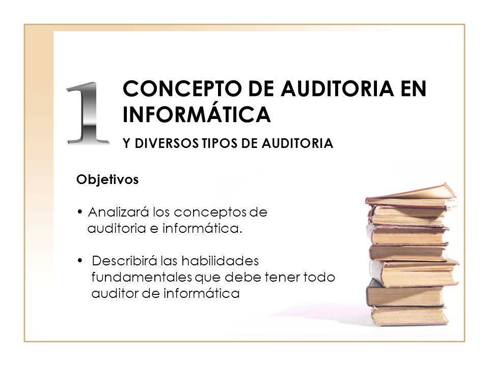 CONCEPTO DE AUDITORIA EN INFORMÁTICA Y DIVERSOS TIPOS DE AUDITORIA