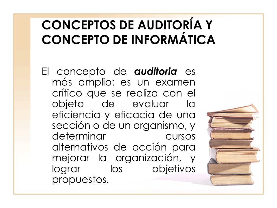 CONCEPTOS DE AUDITORÍA Y CONCEPTO DE INFORMÁTICA