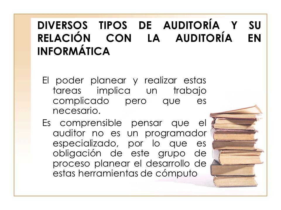 DIVERSOS TIPOS DE AUDITORÍA Y SU RELACIÓN CON LA AUDITORÍA EN INFORMÁTICA
