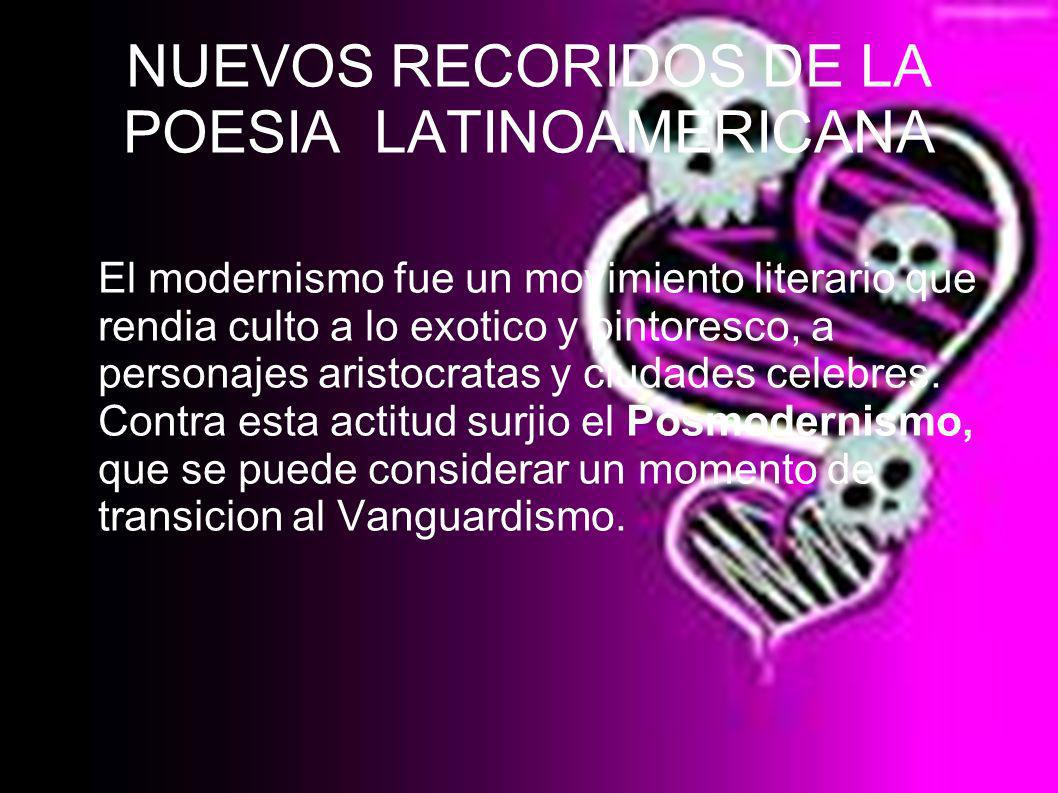 NUEVOS RECORIDOS DE LA POESIA LATINOAMERICANA