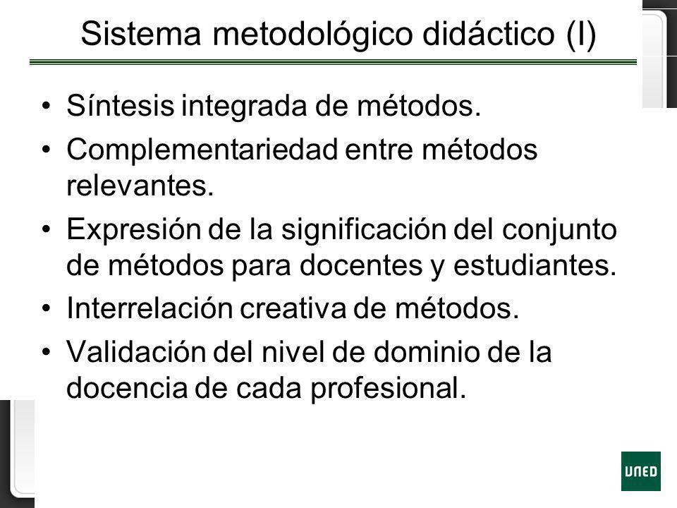 Sistema metodológico didáctico (I)