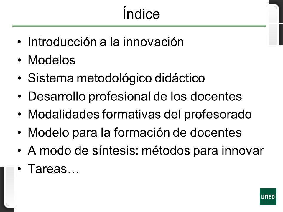 Índice Introducción a la innovación Modelos