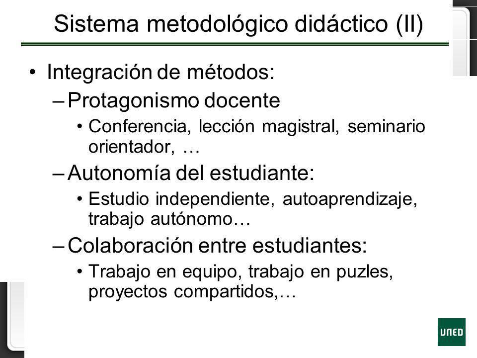 Sistema metodológico didáctico (II)