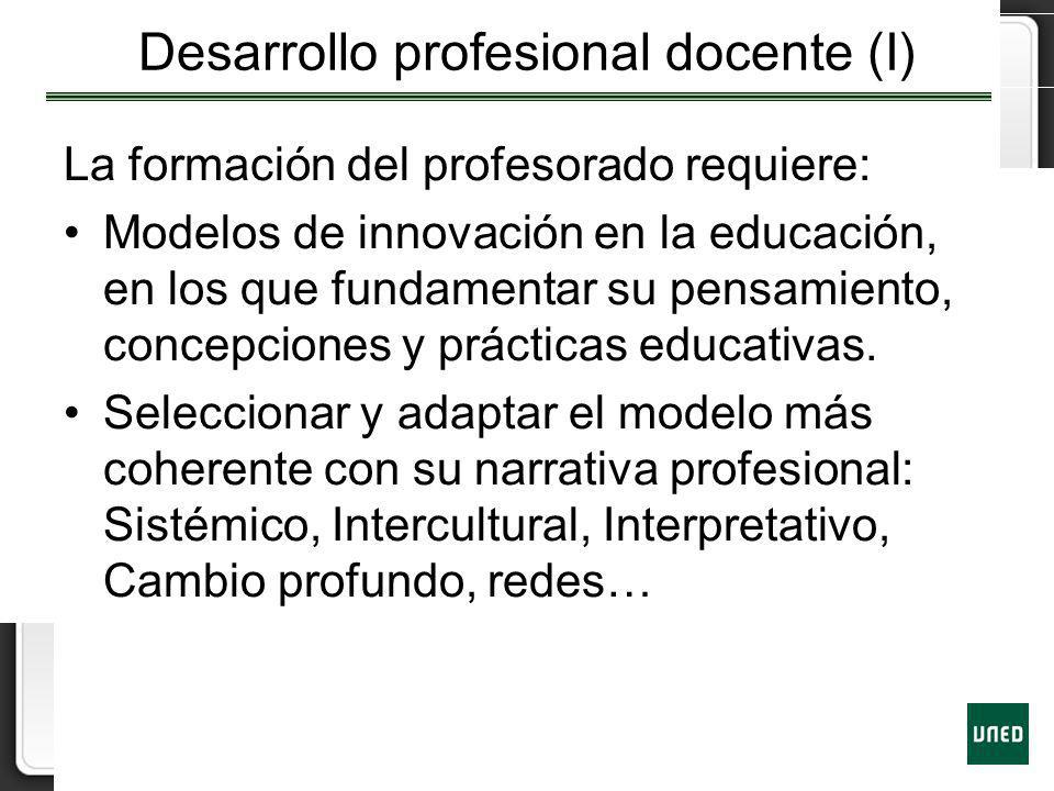 Desarrollo profesional docente (I)