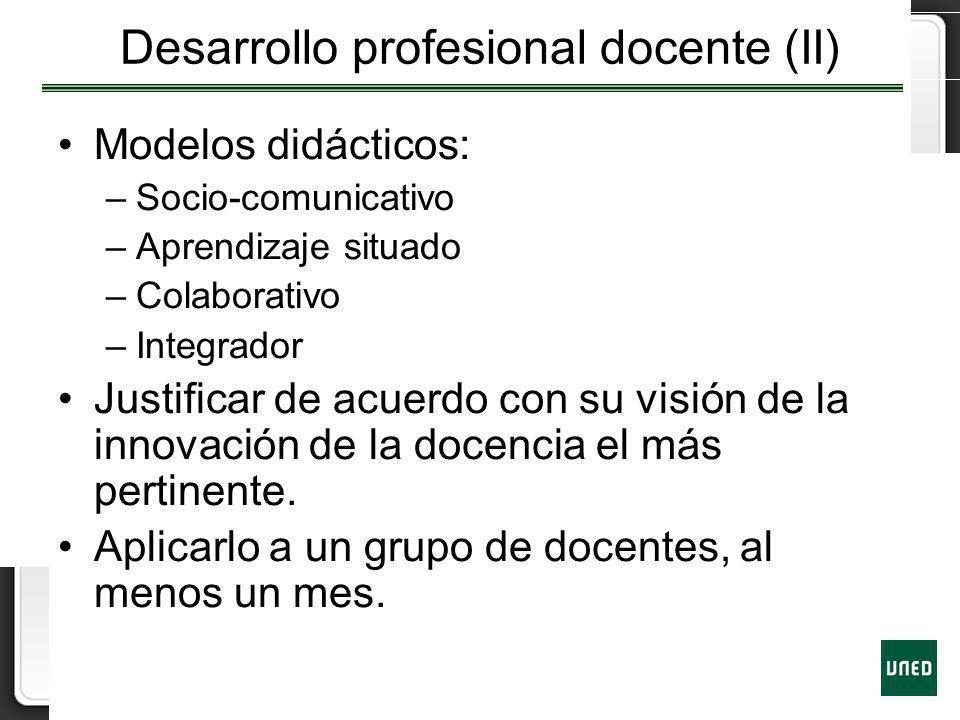 Desarrollo profesional docente (II)