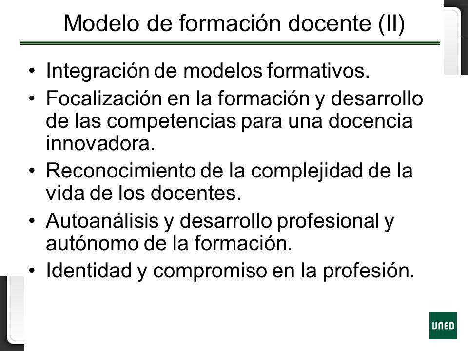 Modelo de formación docente (II)