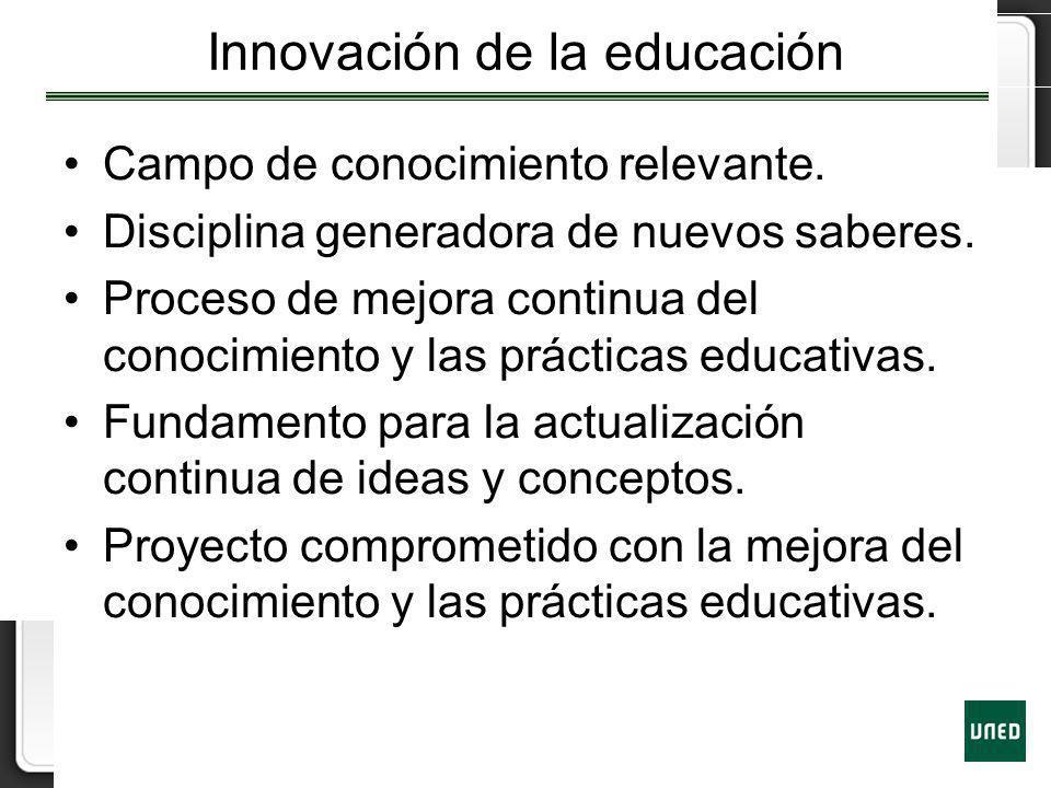 Innovación de la educación