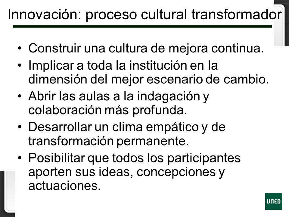 Innovación: proceso cultural transformador