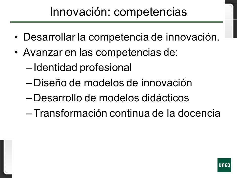 Innovación: competencias