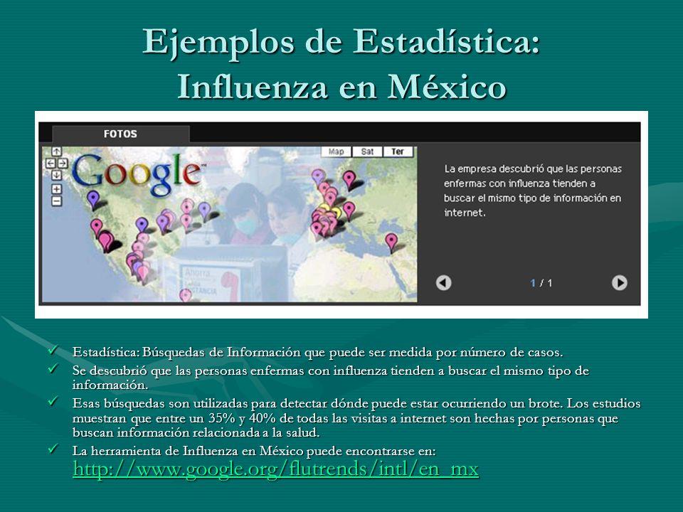 Ejemplos de Estadística: Influenza en México