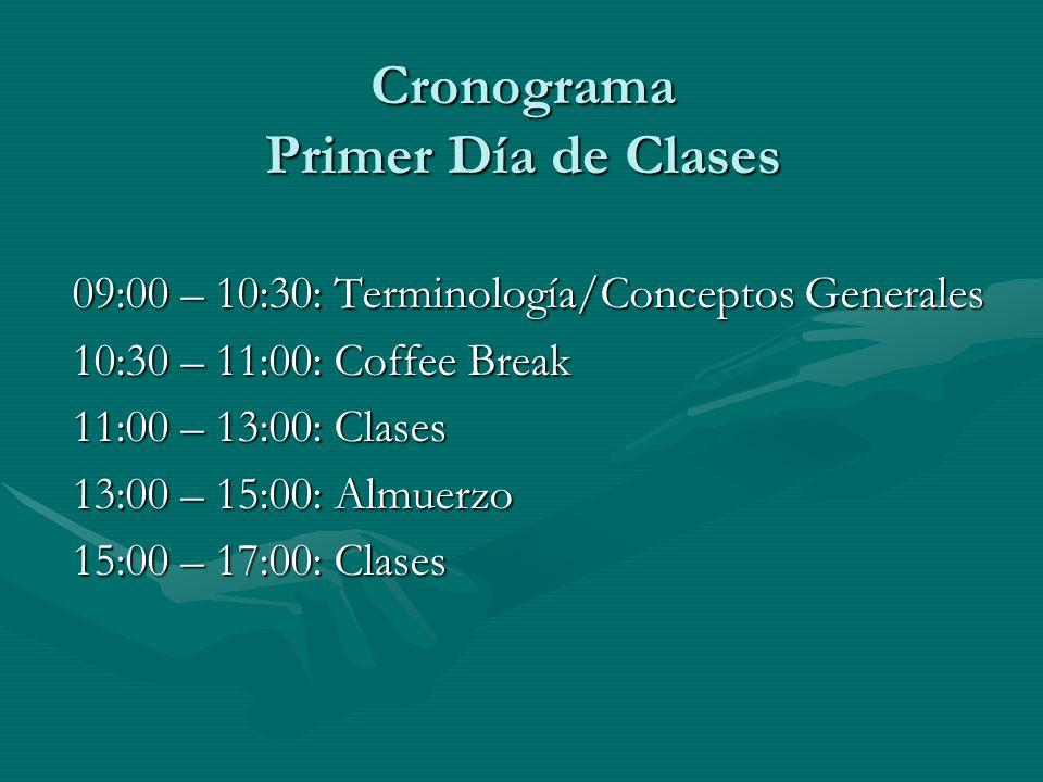 Cronograma Primer Día de Clases