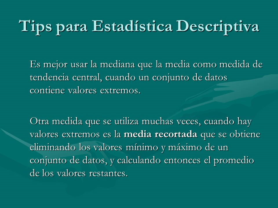 Tips para Estadística Descriptiva