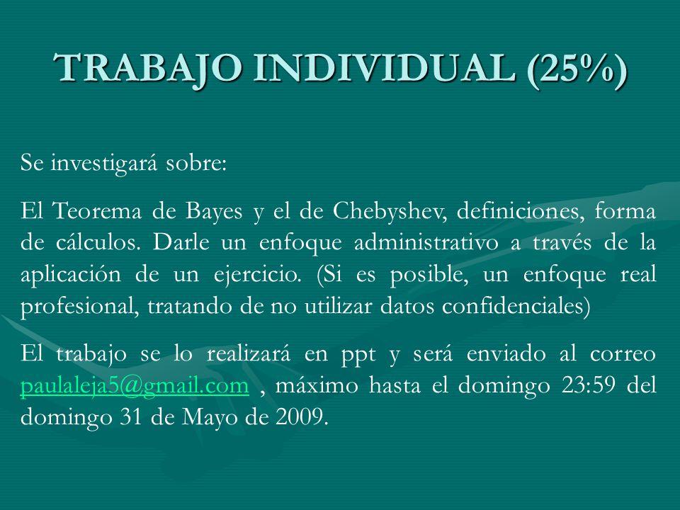 TRABAJO INDIVIDUAL (25%)