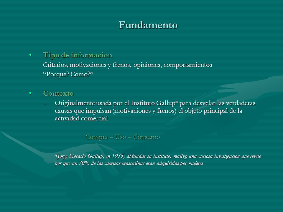 Fundamento Tipo de informacion Contexto