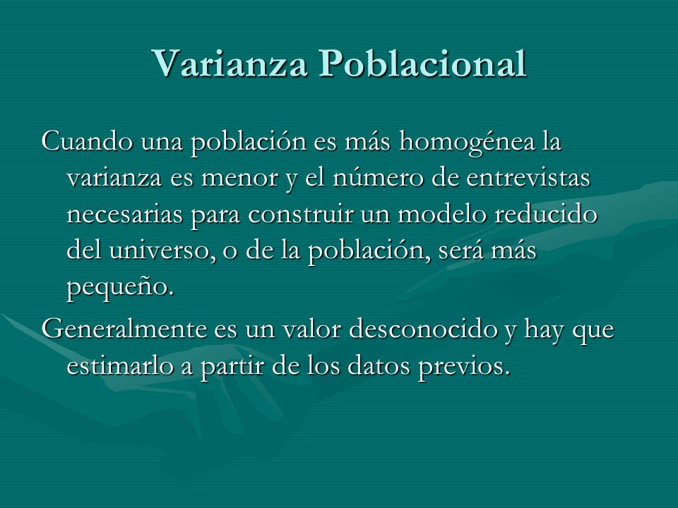 Varianza Poblacional
