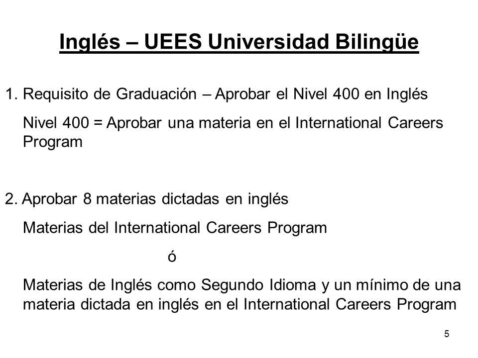Inglés – UEES Universidad Bilingüe