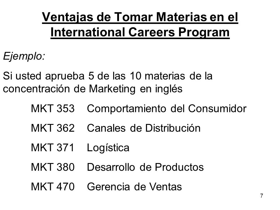Ventajas de Tomar Materias en el International Careers Program