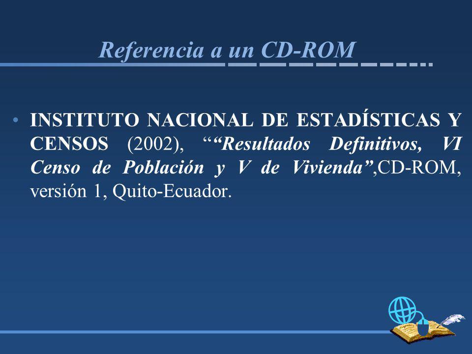 Referencia a un CD-ROM