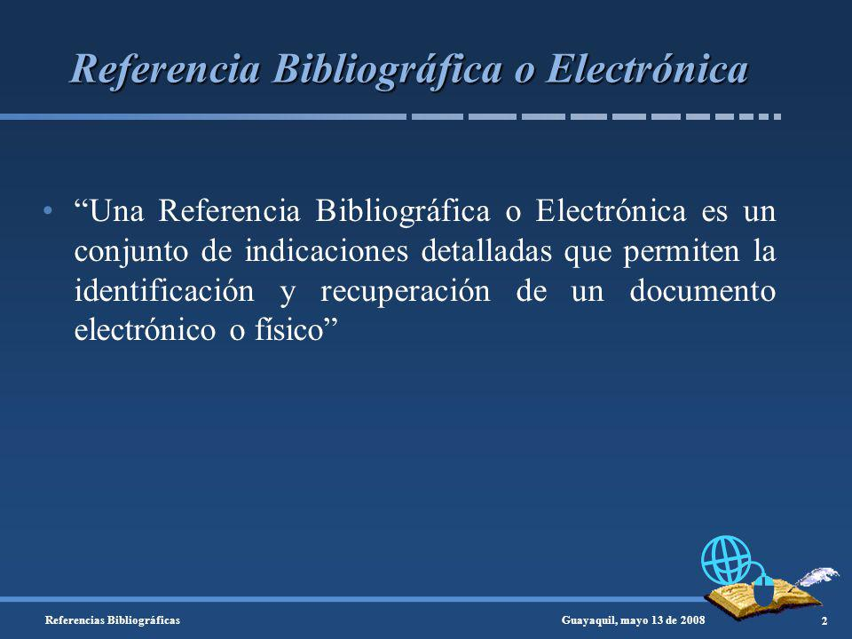 Referencia Bibliográfica o Electrónica