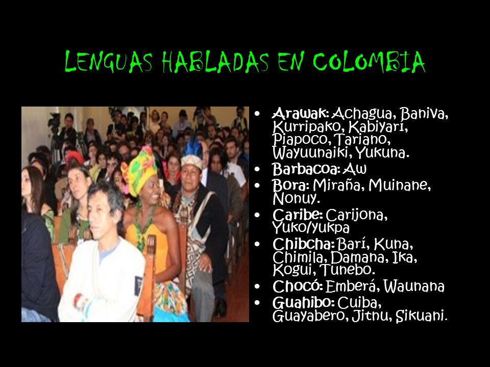 LENGUAS HABLADAS EN COLOMBIA