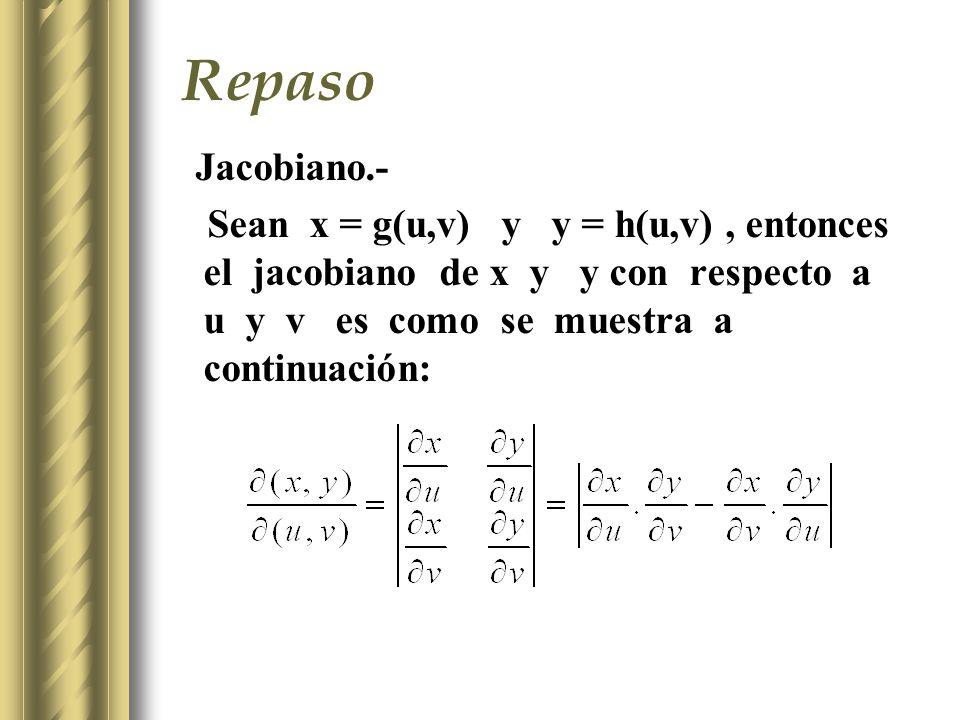 Repaso Jacobiano.-