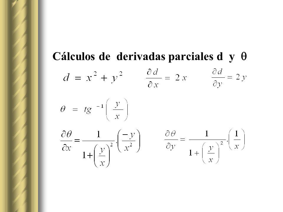 Cálculos de derivadas parciales d y 