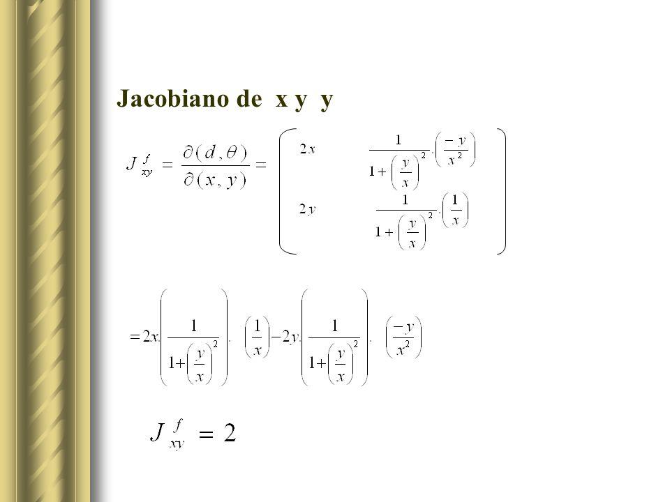 Jacobiano de x y y