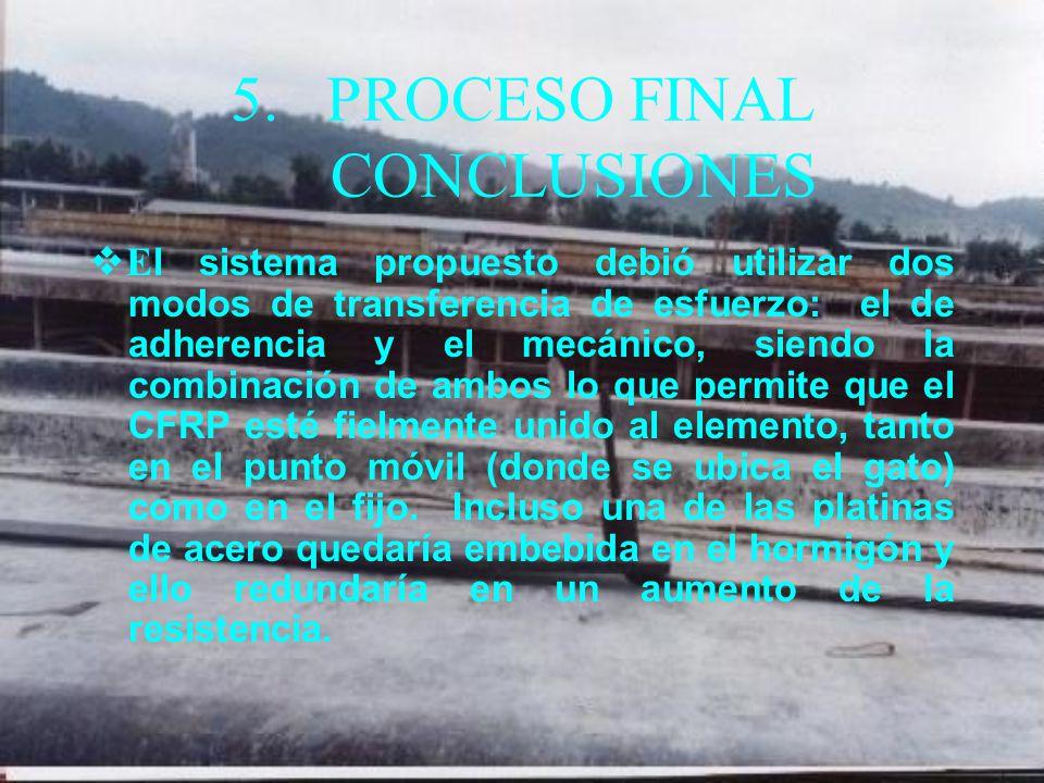 5. PROCESO FINAL CONCLUSIONES