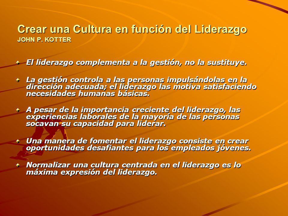 Crear una Cultura en función del Liderazgo JOHN P. KOTTER