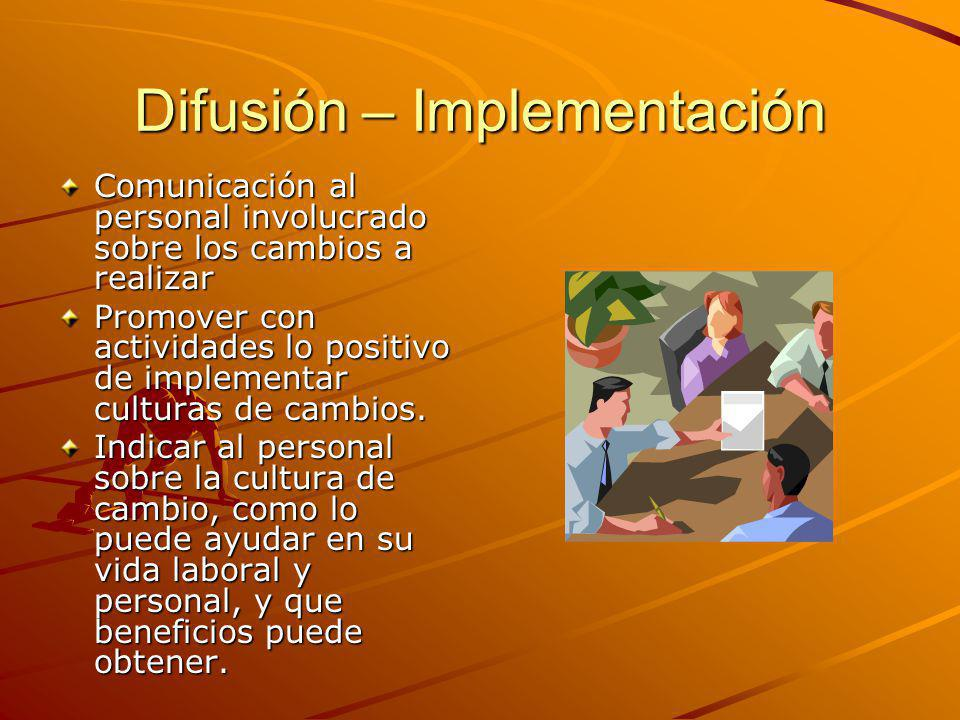 Difusión – Implementación