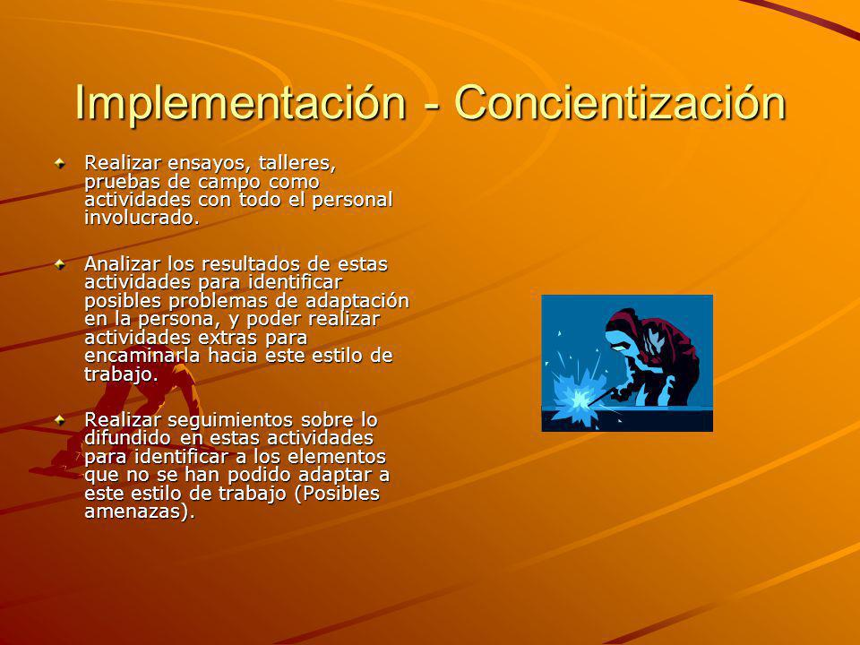 Implementación - Concientización