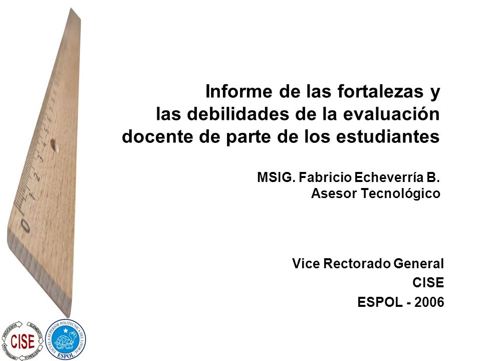Vice Rectorado General CISE ESPOL - 2006