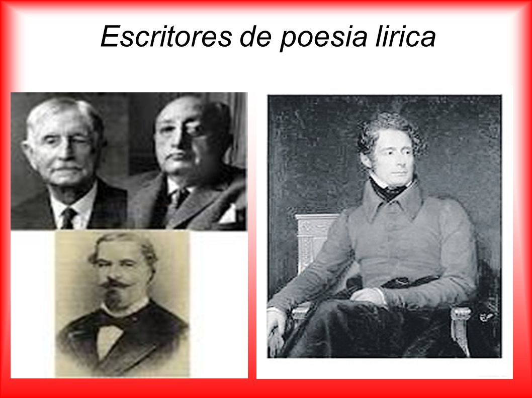 Escritores de poesia lirica