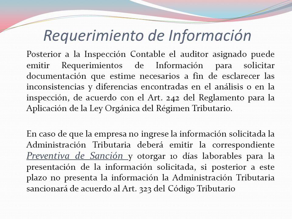 Requerimiento de Información