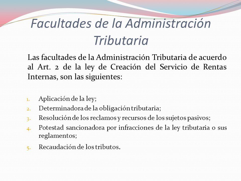 Facultades de la Administración Tributaria