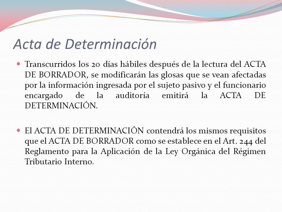 Acta de Determinación