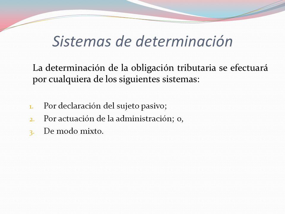 Sistemas de determinación