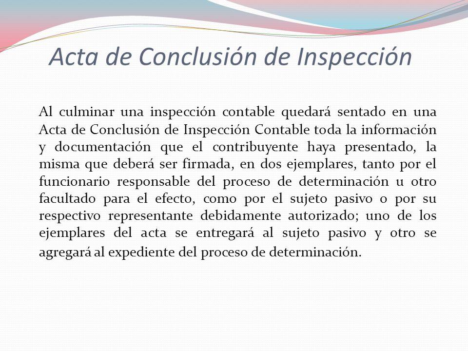 Acta de Conclusión de Inspección
