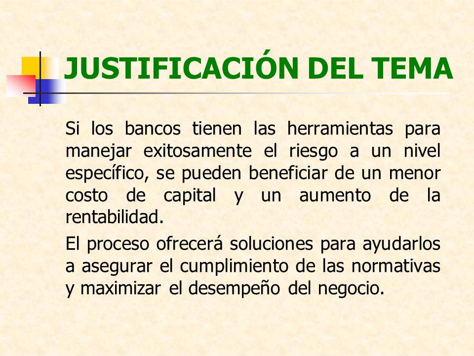 JUSTIFICACIÓN DEL TEMA