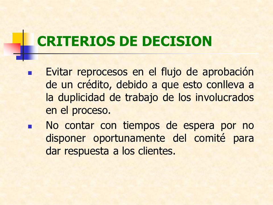 CRITERIOS DE DECISION