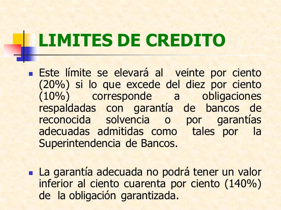 LIMITES DE CREDITO