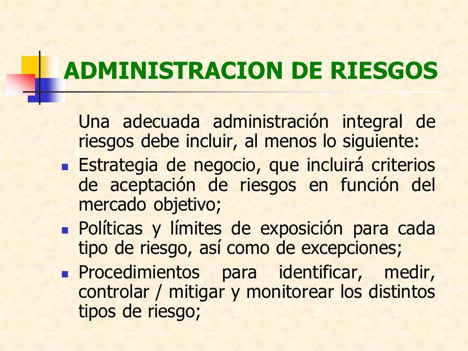 ADMINISTRACION DE RIESGOS