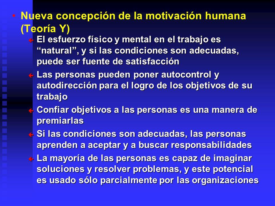 Nueva concepción de la motivación humana (Teoría Y)