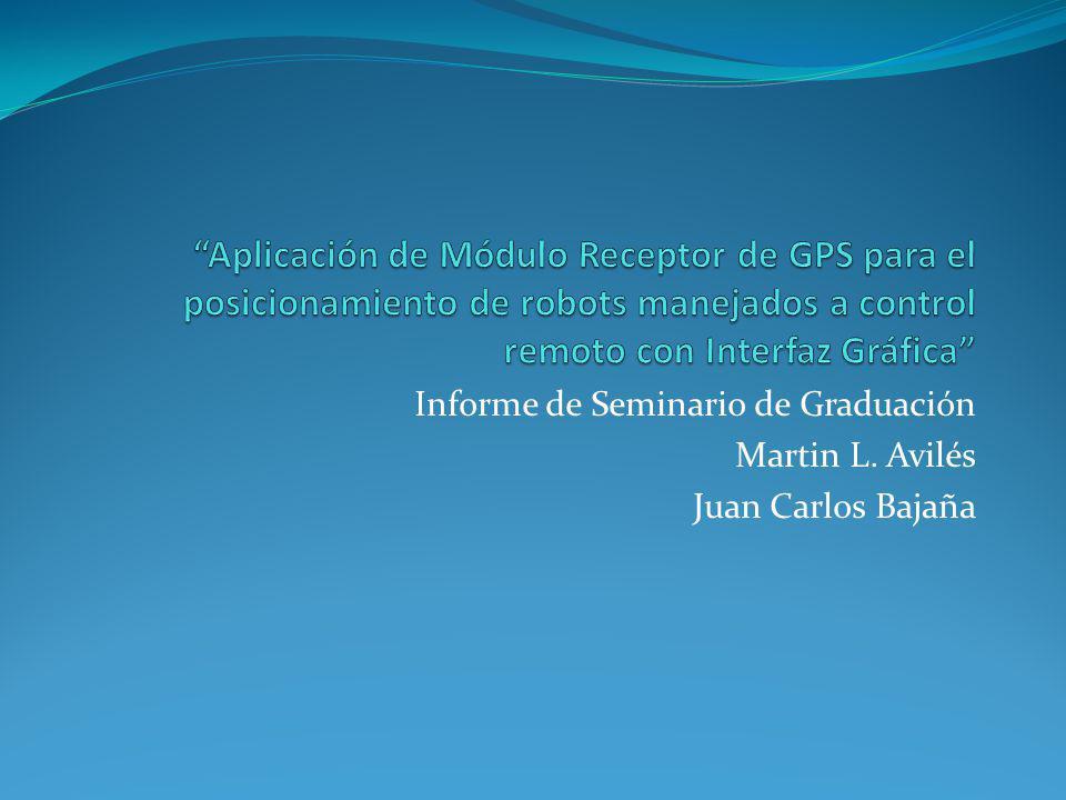 Informe de Seminario de Graduación Martin L. Avilés Juan Carlos Bajaña