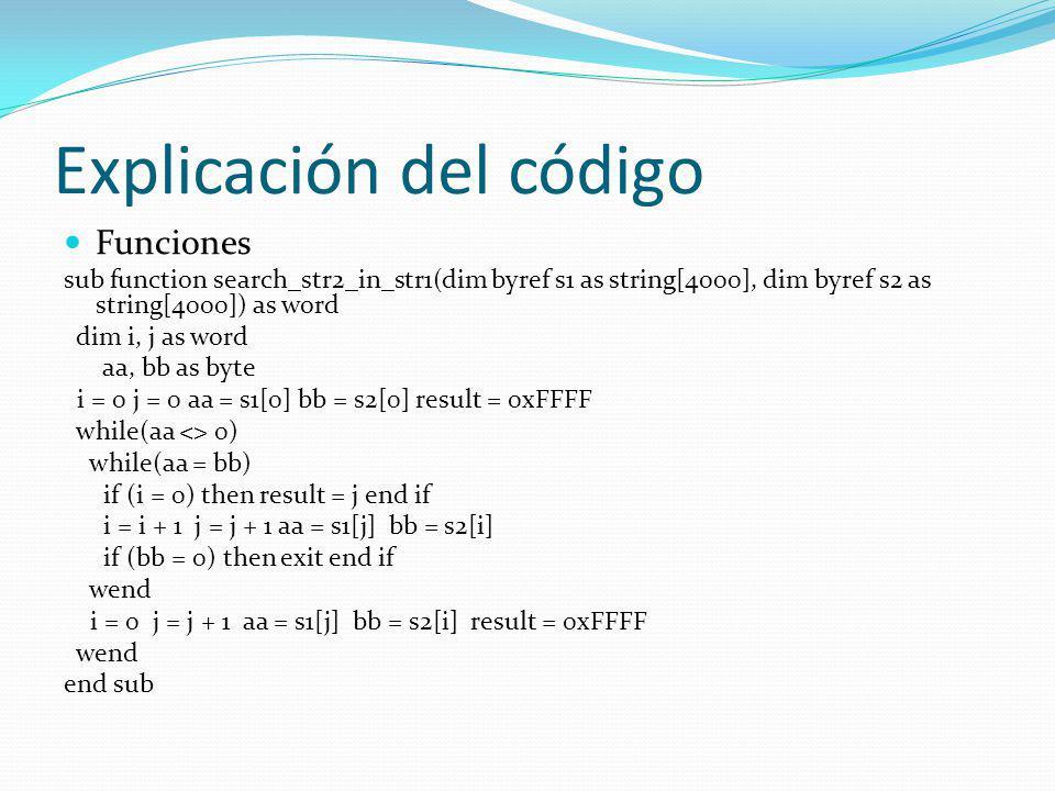 Explicación del código