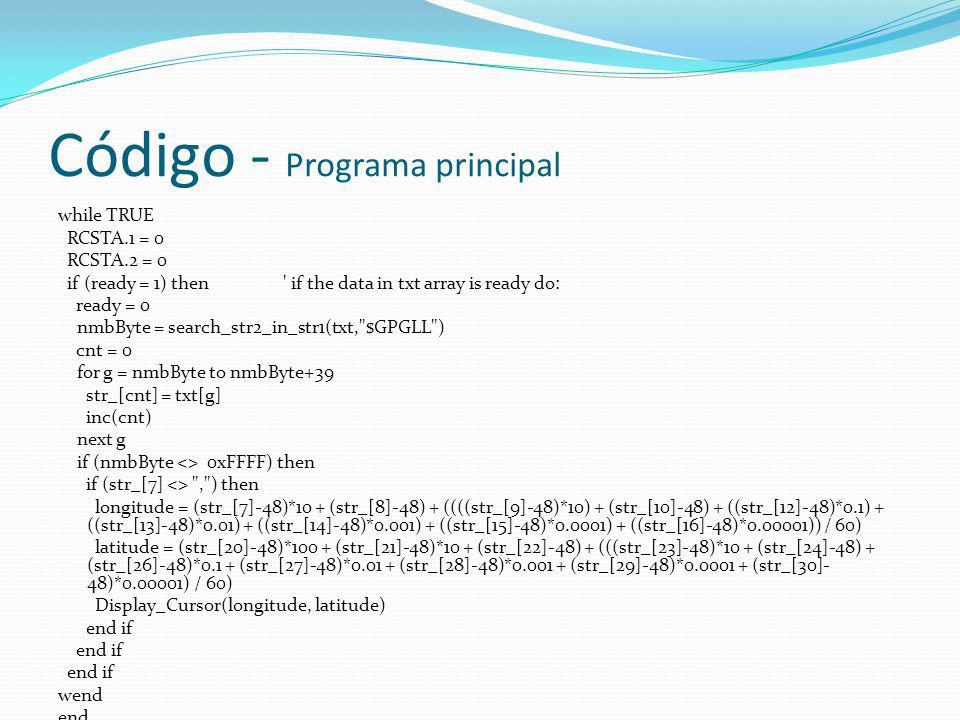 Código - Programa principal